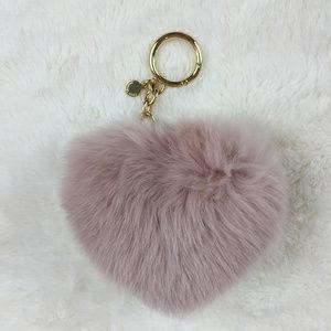 MICHAEL Michael Kors Heart Pom Pom Fob-Pink
